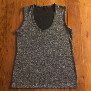 J.Crew Grey Shimmer Blouse - Size Small - EUC